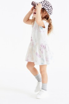 Lilac GOTS Organic Tie Dye Dress (3mths-7yrs)