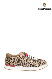 Hush Puppies Leopard Sabine BouncePLUS Lace-Up Trainers
