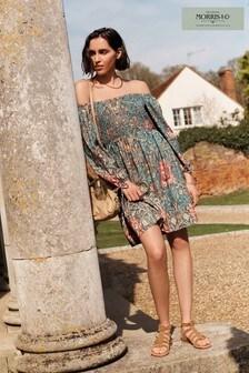 Blue Morris & Co Puff Sleeve Dress