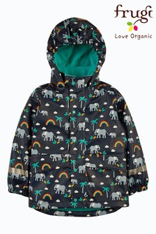 Frugi Elephants Recycled Waterproof Puddlebuster Coat