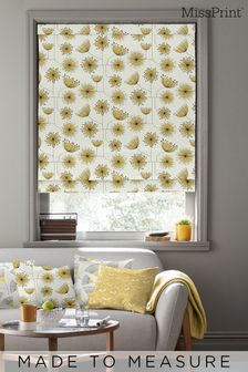 Dandelion Mobile Sunflower Yellow Roman Made To Measure Blind by MissPrint