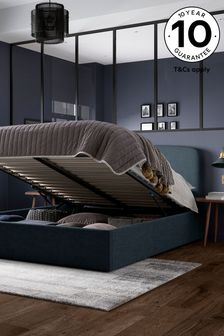 Soft Marl Petrol Blue Matson Ottoman Storage Bed