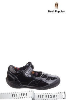 Hush Puppies Black Rina Infant School Shoes