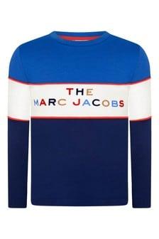 Boys Blue/Navy Cotton Jersey T-Shirt