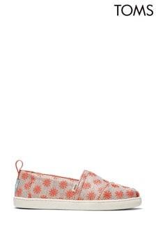 TOMS Coral Twill Glimmer Alpargata Shoes