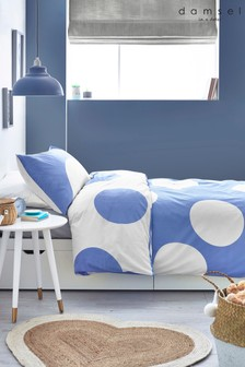 Blue Spot Duvet Cover and Pillowcase Set