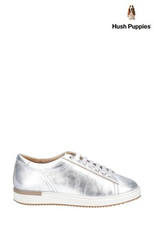 Hush Puppies Silver Sabine BouncePLUS Lace-Up Trainers