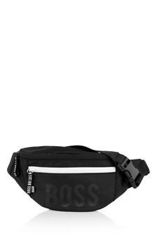 Boys Black Logo Belt Bag