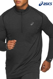 Asics Mens Black Half Zip Jacket
