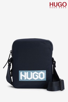 HUGO Blue Record Zip Bag