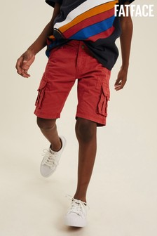 FatFace Red Lulworth Cargo Shorts