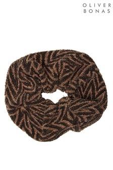Oliver Bonas Ziggy Print Oversized Scrunchie Hair Elastic