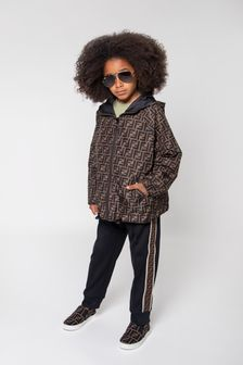 Kids Black Reversible Jacket
