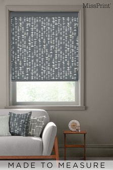 MissPrint Black Ditto Made To Measure Roller Blind