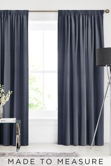 Soho Indigo Blue Made To Measure Curtains