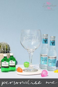 Personalised Gincredible Gin Gift Set by Signature PG