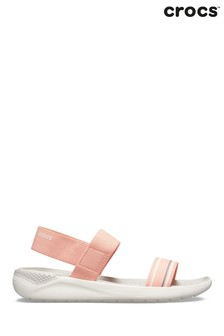 Crocs Pink Literide Slip-On Sandals