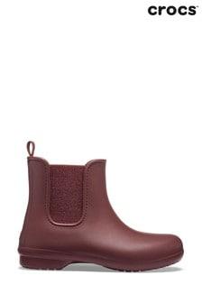 Crocs™ Red Freesail Metallic Chelsea Boots