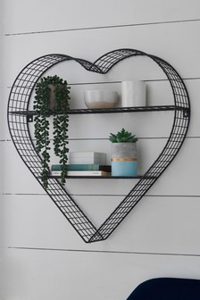 Pretty Vintage Heart Shelf