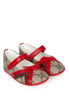 GUCCI Kids Girls Beige Shoes