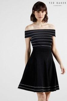 Ted Baker Maisie Bardot Knitted Skater Dress