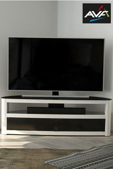 White AVF Burghley 1500 Curved TV Stand