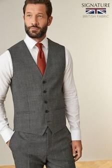Grey Waistcoat Signature Puppytooth Regular Fit Suit