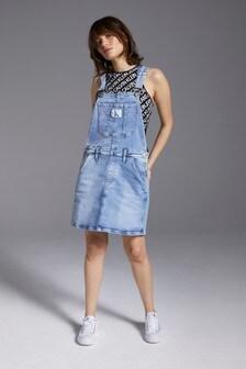 Calvin Klein Jeans Blue Dungaree Dress