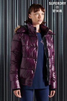 Superdry High Shine Toya Bomber Jacket