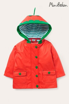Boden Red Strawberry Shower Resistant Raincoat