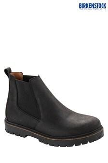 Birkenstock® Black Waxy Nubuck Chelsea Boots