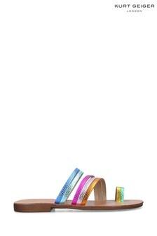 Kurt Geiger London Pink Delilah Rainbow Sandals