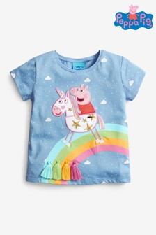 Blue Peppa Pig Rainbow Tassel T-Shirt (3mths-7yrs)