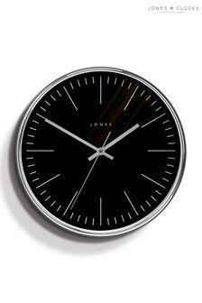Jones Clocks Penny Chrome Wall Clock