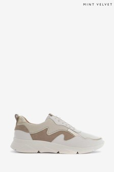 Mint Velvet Zadie White Chunky Trainers