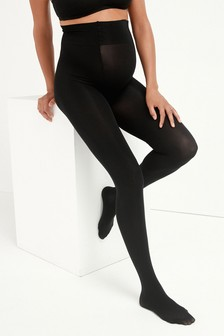 Black 3D 60 Denier Maternity Tights