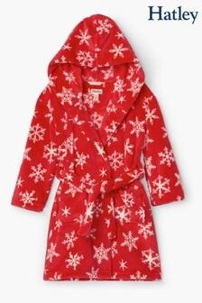 Hatley Holiday Snowflake Red Fleece Robe