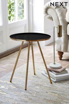 Black Nina Side Table / Bedside