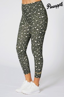 Pineapple High Waisted Leopard Leggings