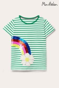 Boden Green Sequin Colour Change T-Shirt