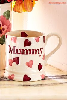 Emma Bridgewater Pink Hearts Mummy Half Pint Mug