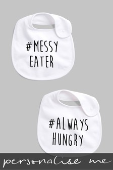 Personalised Hashtag Messy Eater Bib