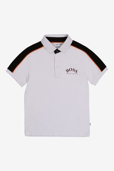 BOSS White Logo Polo