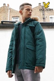 Lyle & Scott Boys Winter Weight Micro Fleece Lined Parka