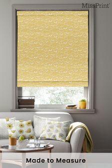 Saplings Sunflower Orange Made To Measure Roman Blind by MissPrint