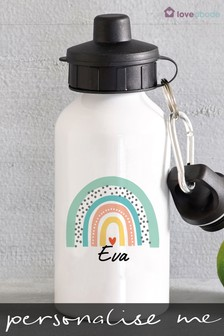 Personalised Rainbow Water Bottle by Loveabode