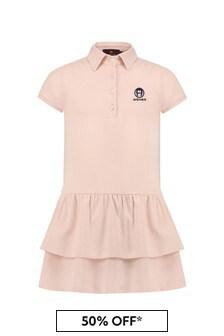 فستان قطن وردي بناتي منAigner