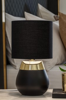 Black/Gold Kit One Stage Touch Table Lamp