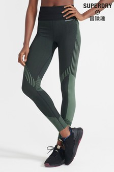 Superdry Sport Black Training Seamless Power Leggings