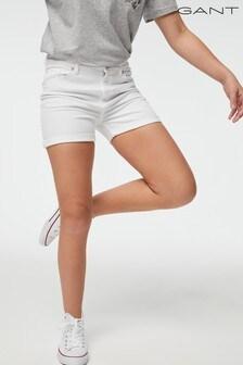 GANT Teen Girls White Twill Shorts